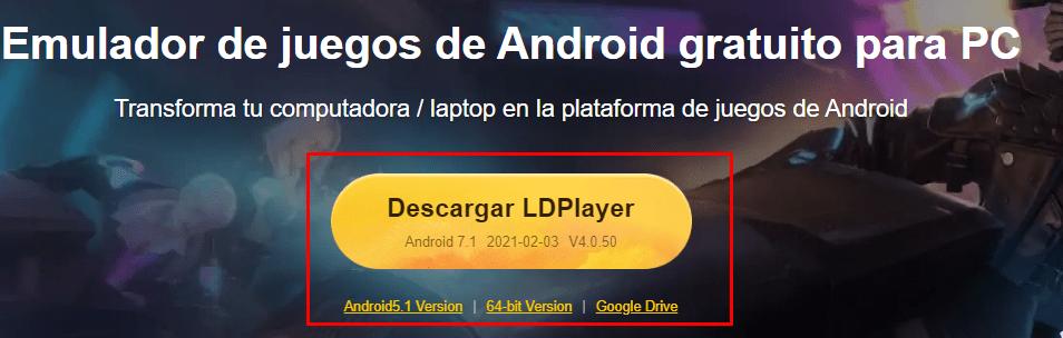Descargar Emulador Android LDPlayer para pc