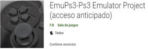 Emulador EmuPs3-Ps3 para android