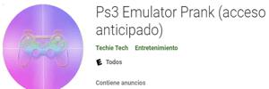Emulador Ps3 Emulator Prank para android