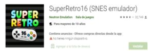 Descargar Emulador SuperRetro16 android