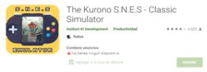 Descargar Emulador The Kurono S.N.E.S android