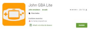 Descargar Emulador John GBA Lite para android